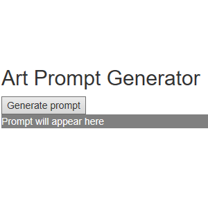 Art Prompt Webpage   Matt Schultz   Professional Portfolio